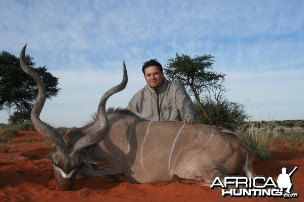 Kudu in the Kalahari