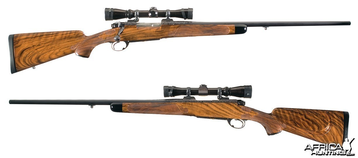 Custom Engraved Gold Inlaid Winchester Pre 64 Model 70 Bolt Action Rifles .