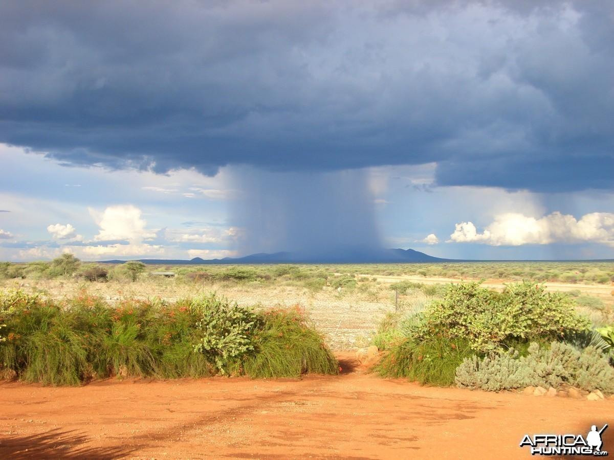 Namibia; Rain on the Mountain