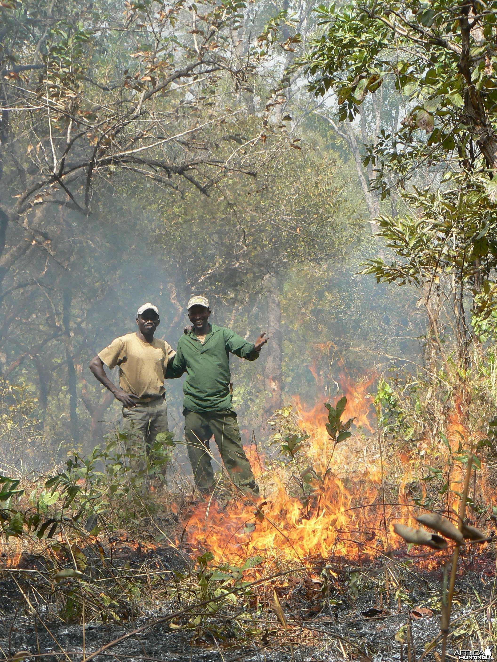 Bush fire Central African Republic
