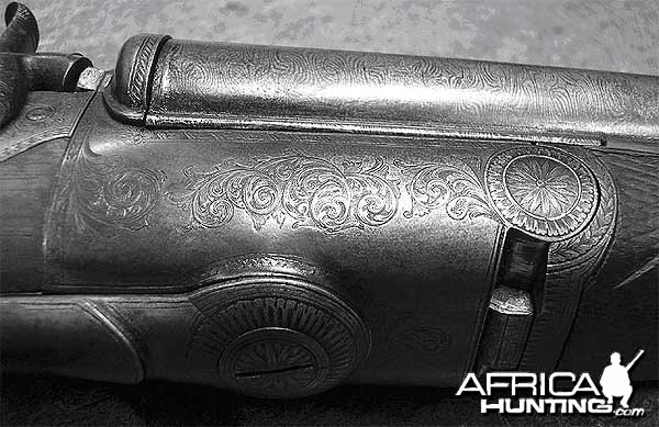 12 Bore Howdah Double Rifle