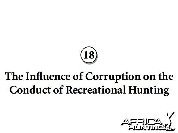 The Influence of Corruption on Conduct of Recreational Hunting