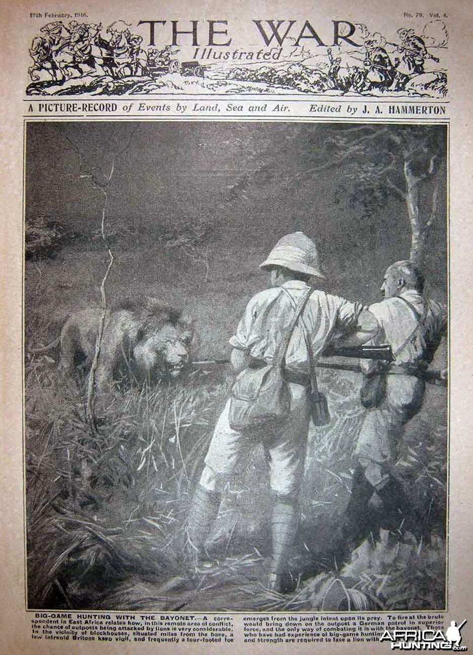 Big game hunting with the bayonet in Africa
