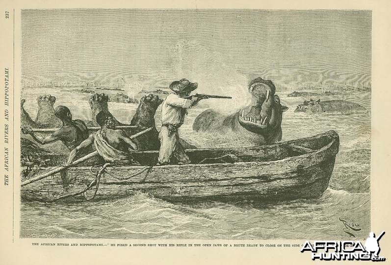 1888 - The African Rivers and Hippopotamus