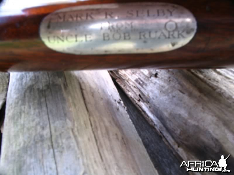 Ruark gifted the .275 Rigby to Mark Selby