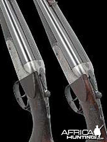 Philip Percival Pair of .450 boxlock ejector rifles by Joseph Lang