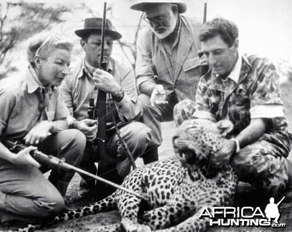 Ernest Hemingway and Leopard