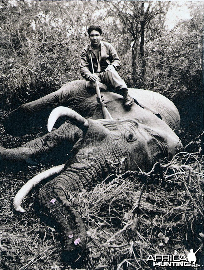 Elephant Hunter East Africa circa 1960