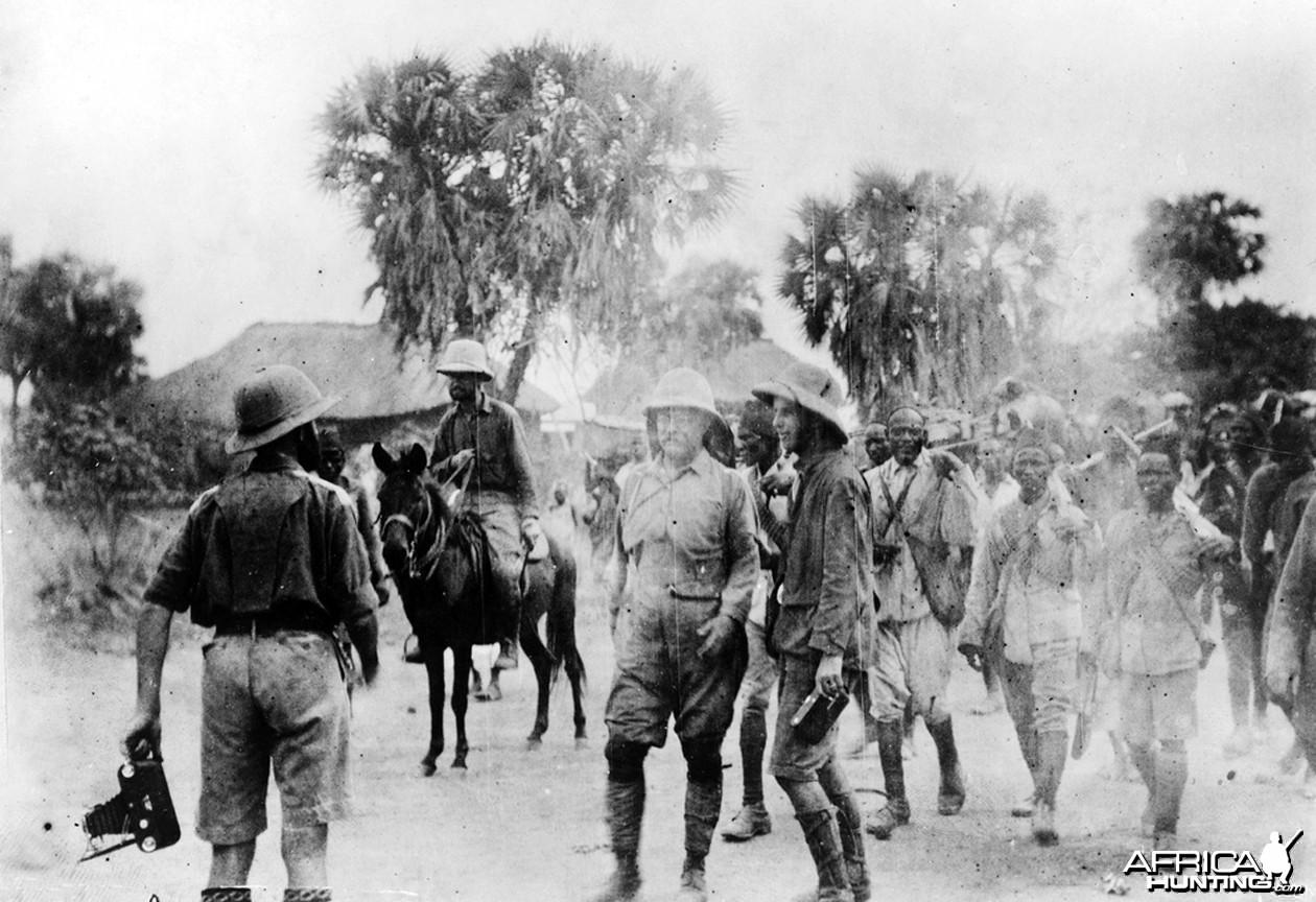 Theodore Roosevelt in Africa, circa 1910