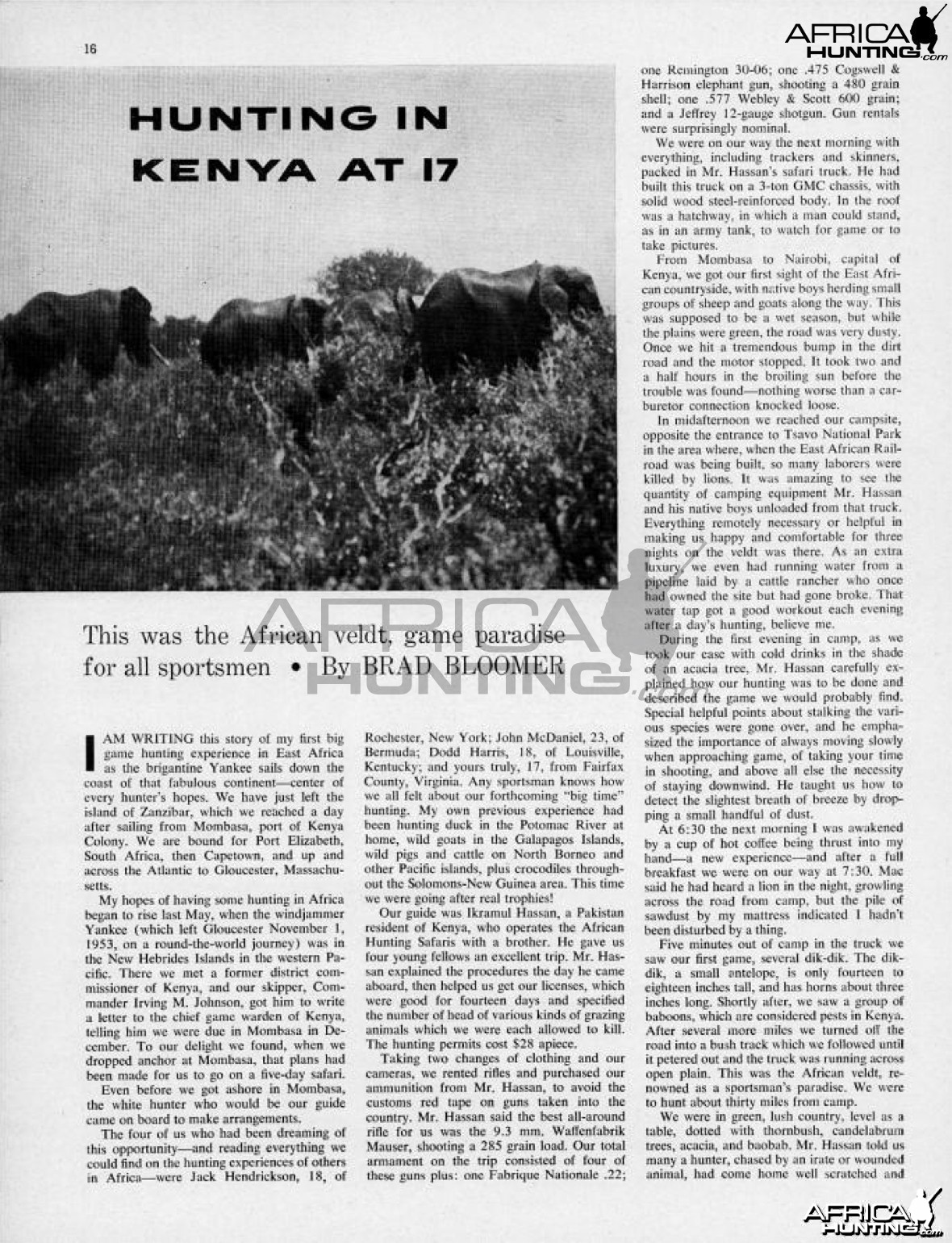Hunting in Kenya, 1956