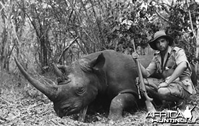 Jorge Alves de Lima, Professional Hunter, with Black Rhino
