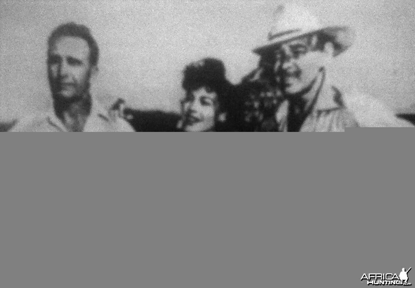 Bunny Allen, Eva Gardner & Clark Gable