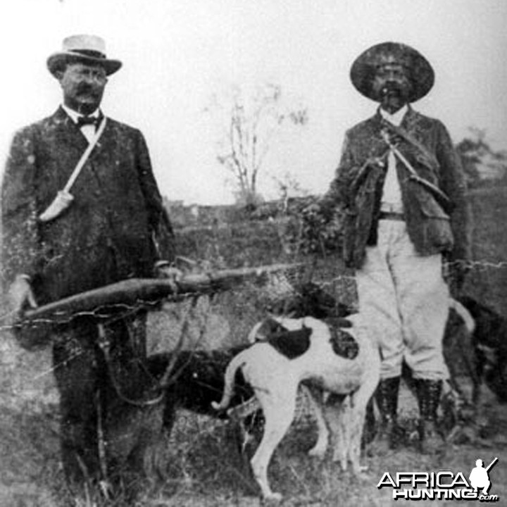 Holt Collier (1846-1946) on the right, An American Big Game Hunter