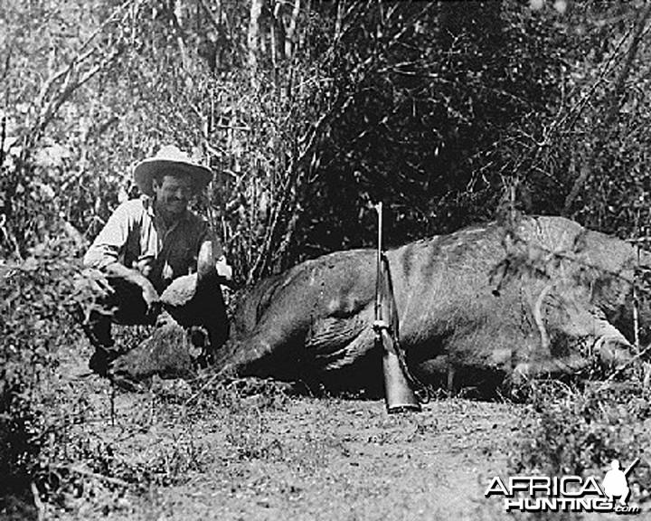 Ernest Hemingway on safari, 1933