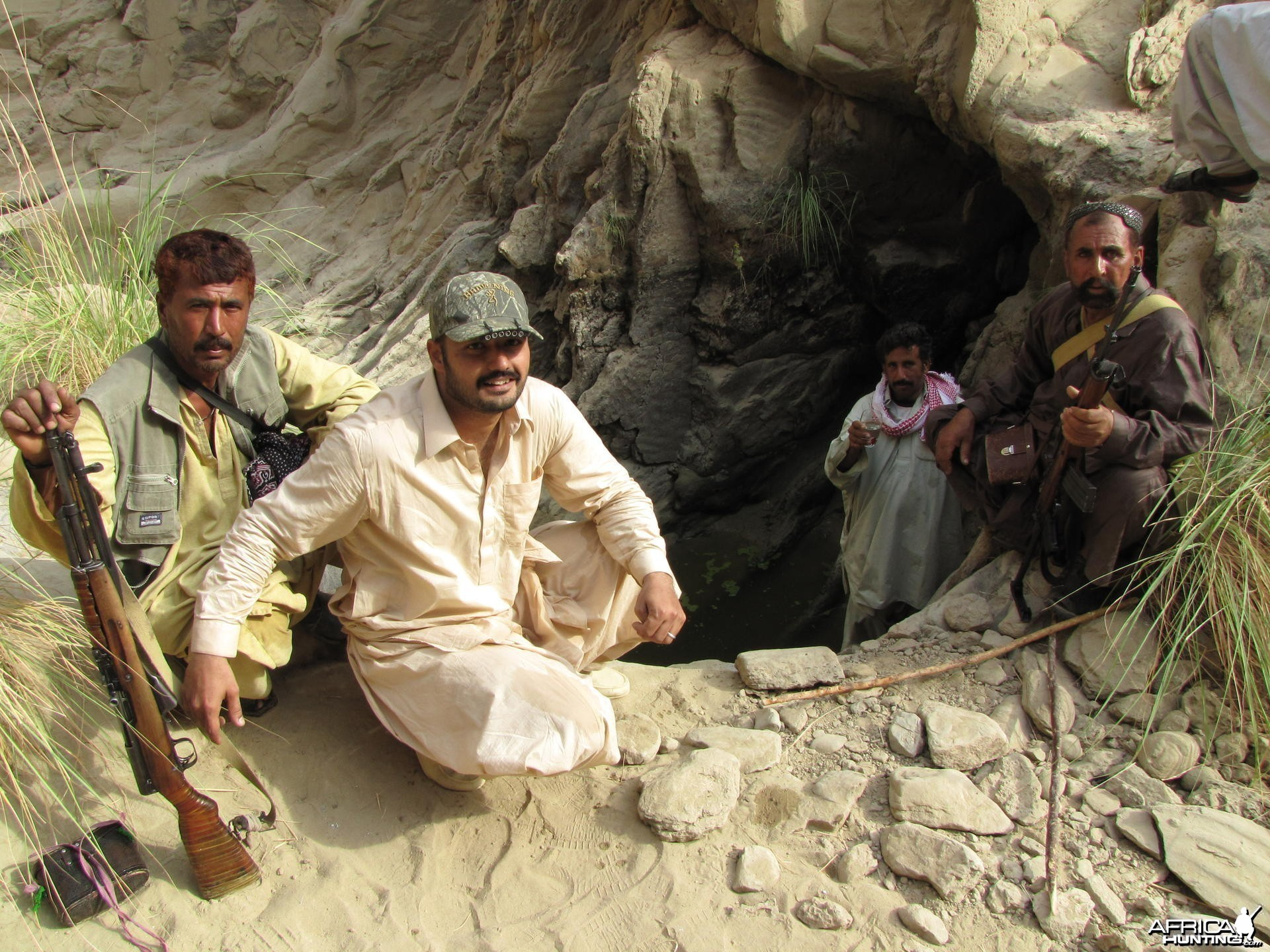 The only drinking water available in Ibex hunt Pakistan