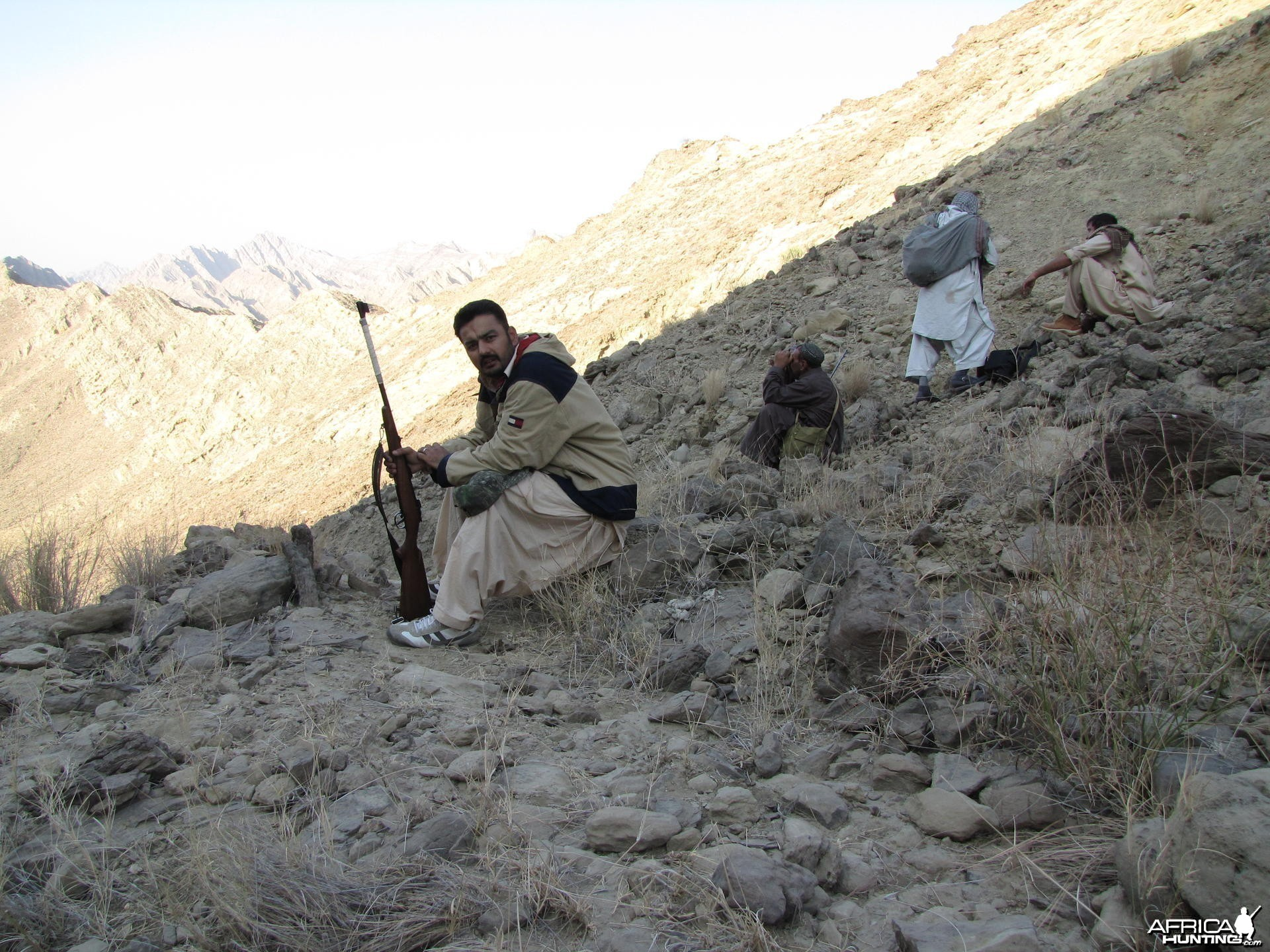 Holding my 7mm BRNO - Ibex hunt Pakistan