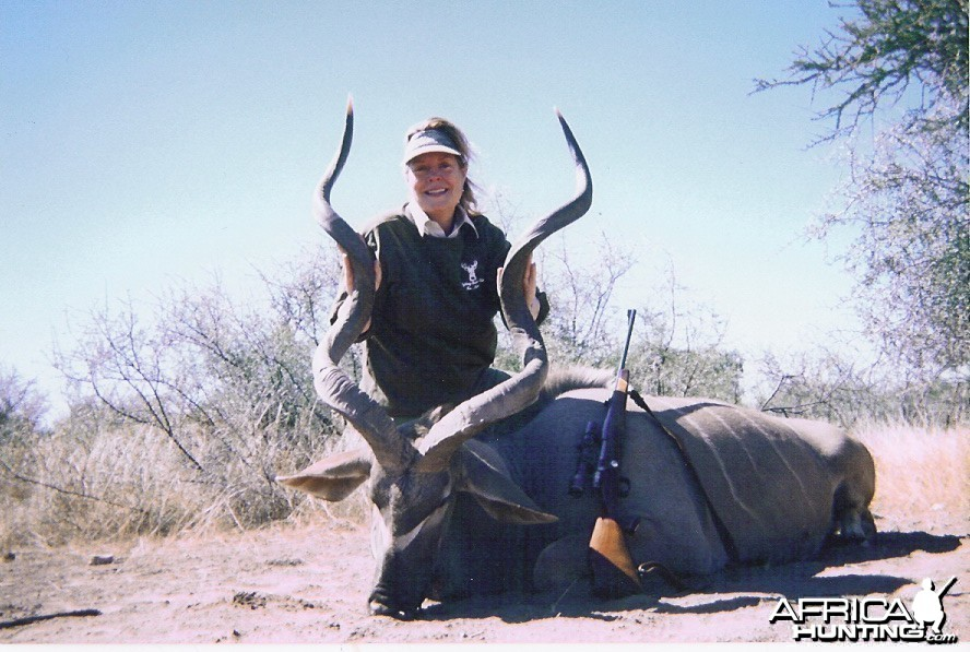 "58 1/2"" kudu, near Limpopo River, with a .308"
