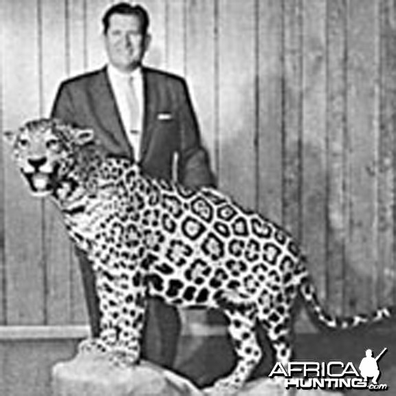 C.J. McElroy with Jaguar in 1965, Founder of Safari Club International