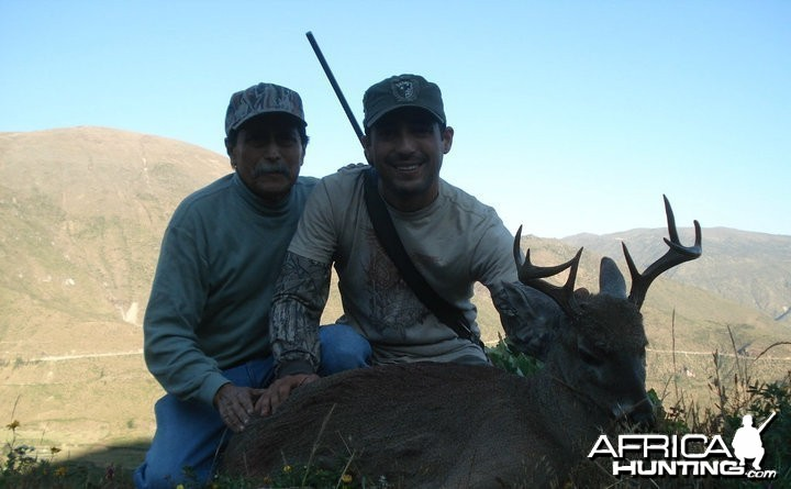Hunting with my old man... Peruvian Whitetail deer
