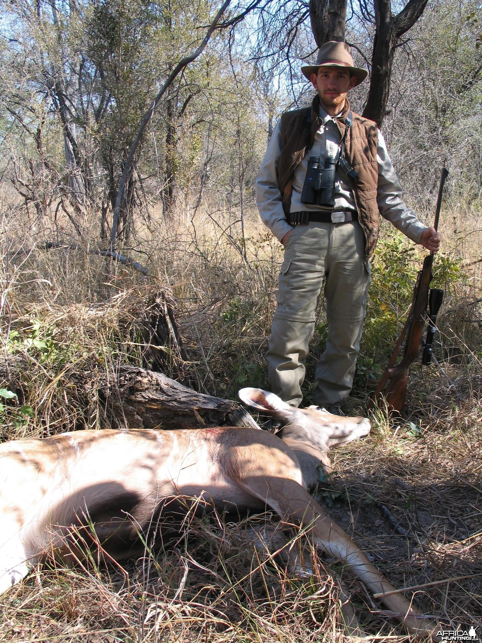 I shot a Kudu female for villagers, Zimbabwe