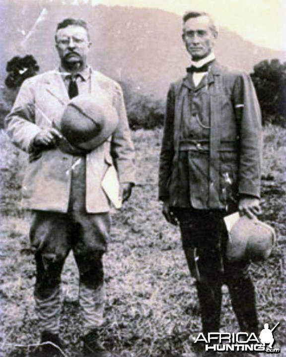 Theodore Roosevelt and Charles Hurlburt of the Africa Inland Mission