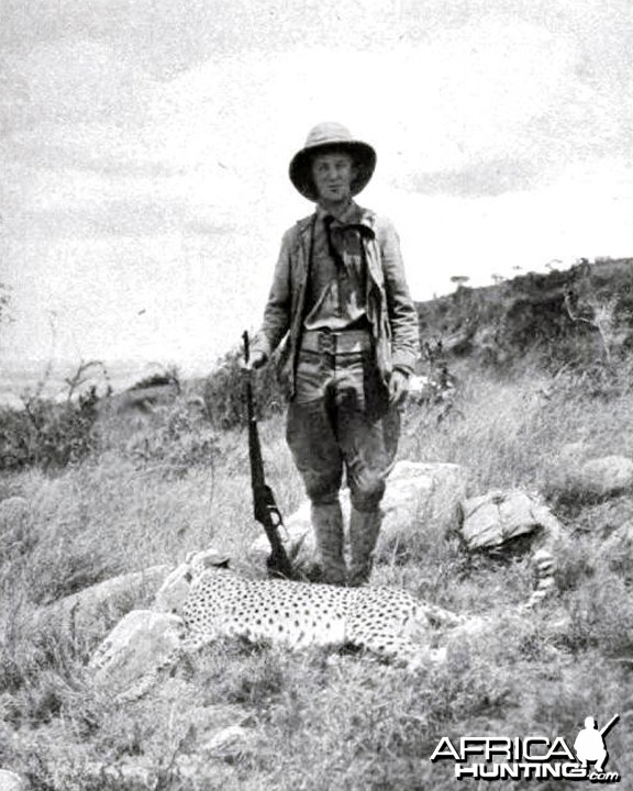 Kermit Roosevelt and cheetah shot by him