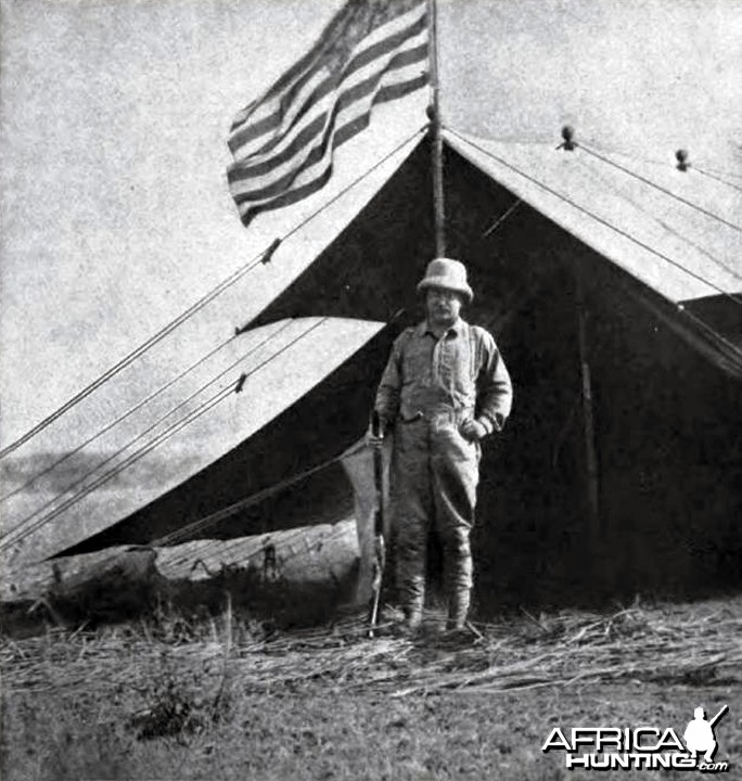 A large American flag was floating over my own tent, Theodore Roosevelt