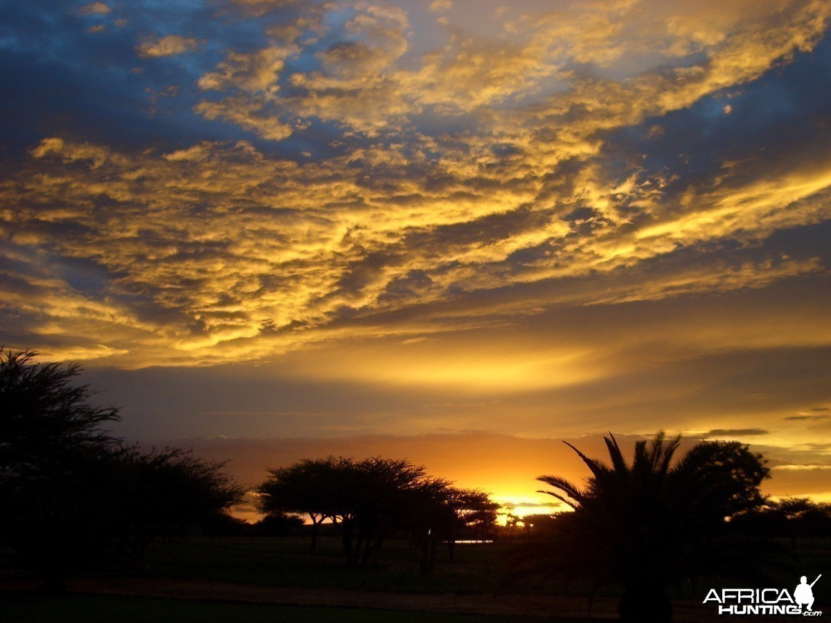 Africa Namibian Sunset
