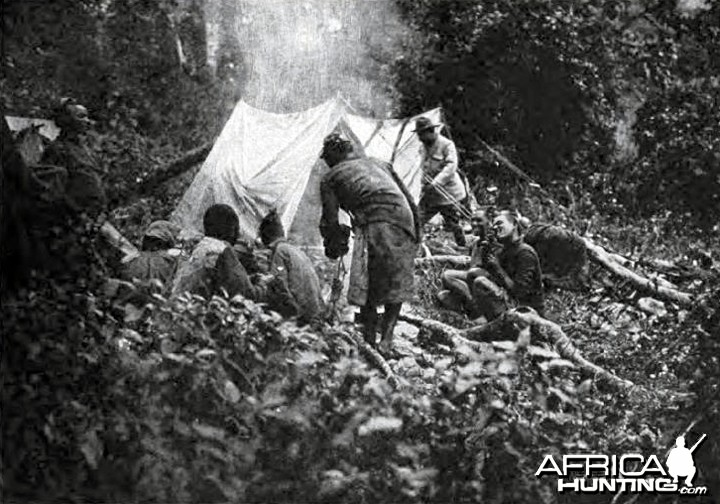 Theodore Roosevelt, camping after death of the first bull elephant
