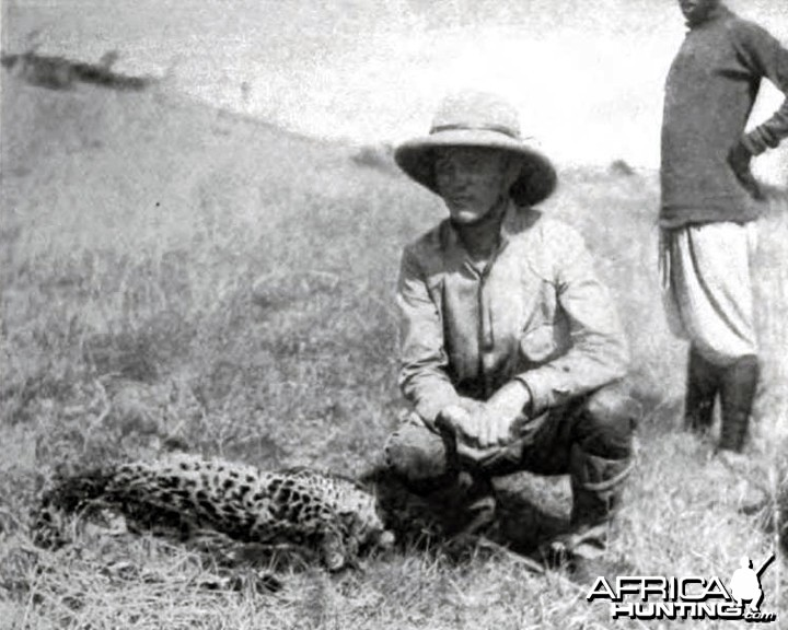 Kermit Roosevelt and the leopard