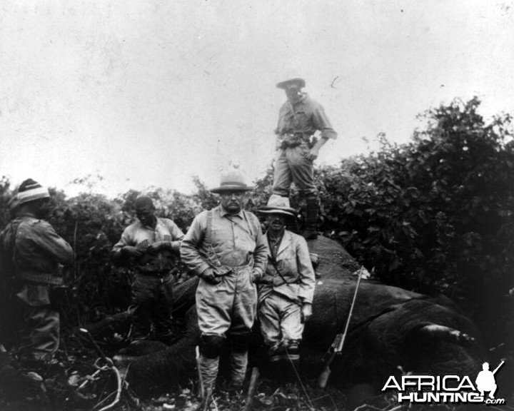 Theodore Roosevelt with elephant