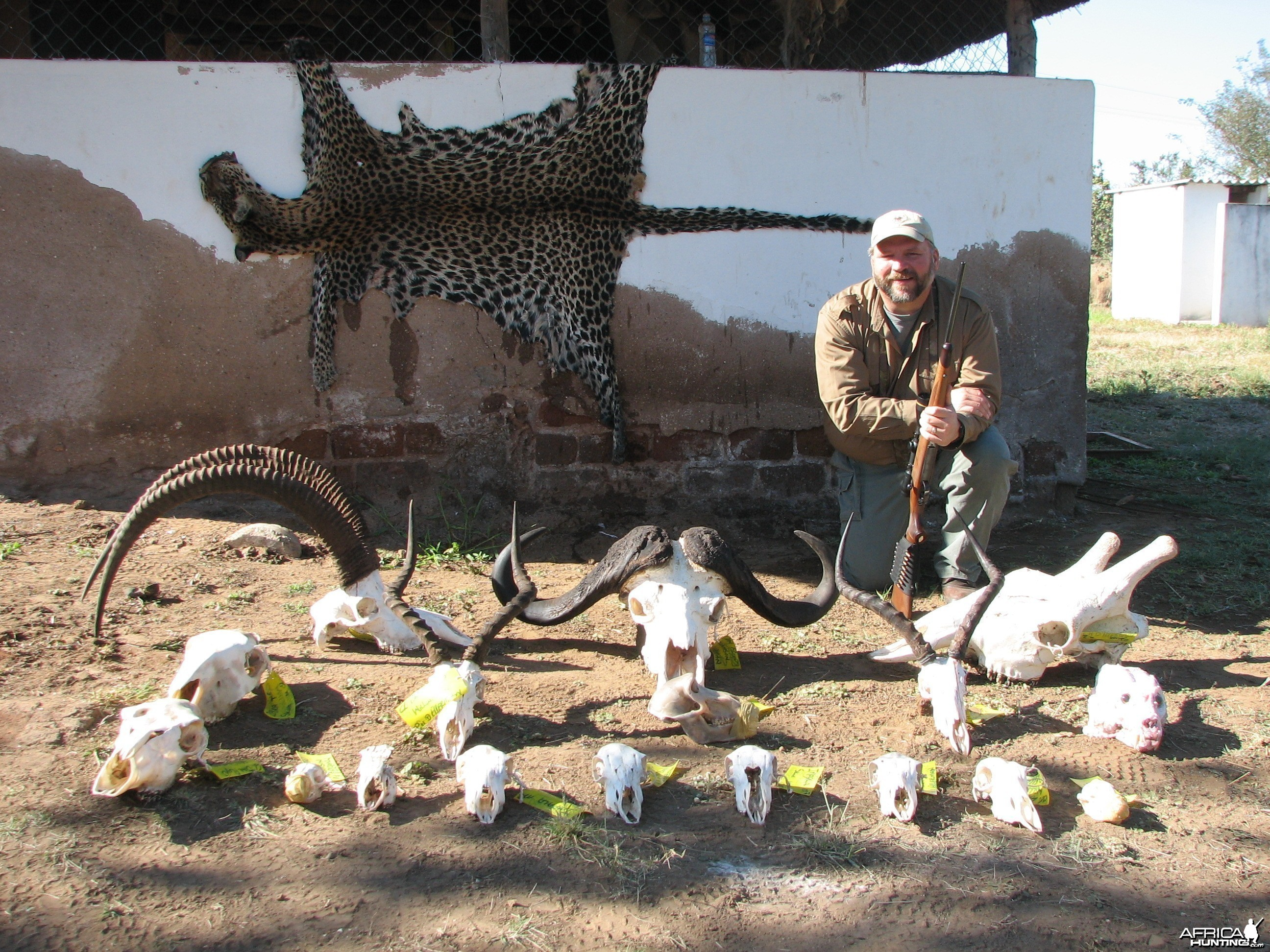 Trophies of my 18 day hunting safari