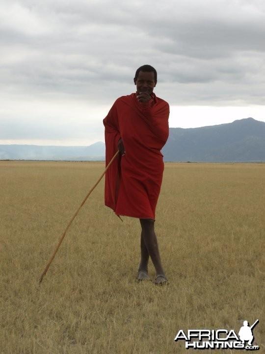 A Masai tribesman in Tanzania