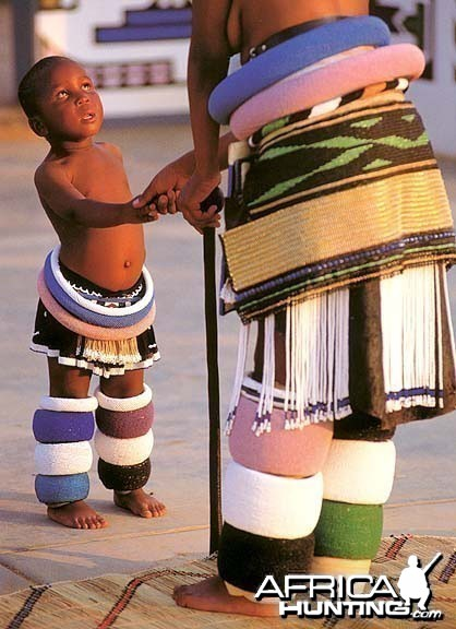 Ndebele Woman and Kid