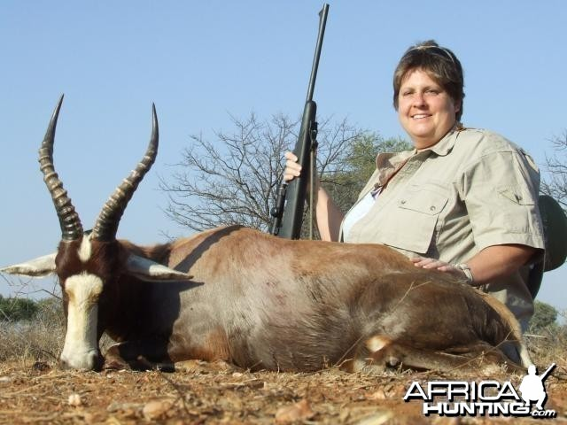 Blesbok hunted in South Africa