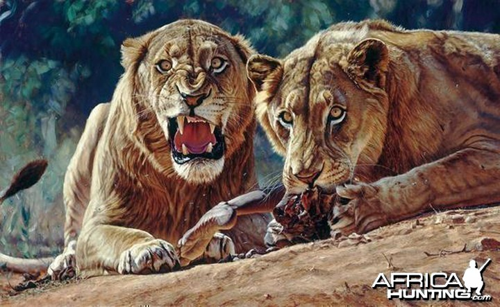 Man Eaters Of Tsavo By John Banovich