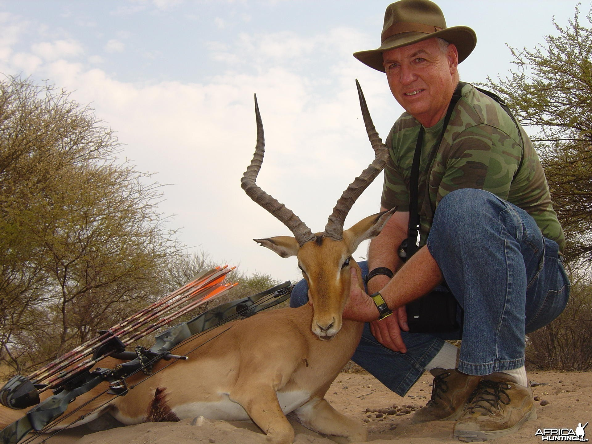 Bowhunting Impala in South Africa