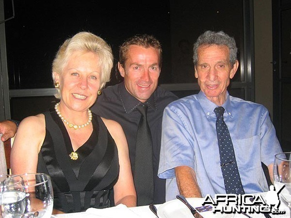 Adelino Saws Pires, Professional Hunter, with his wife Fiona Capstick