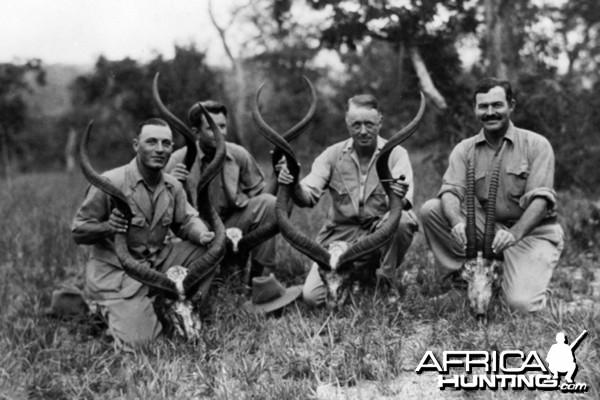 Ernest Hemingway on safari in Tanganyika, 1934