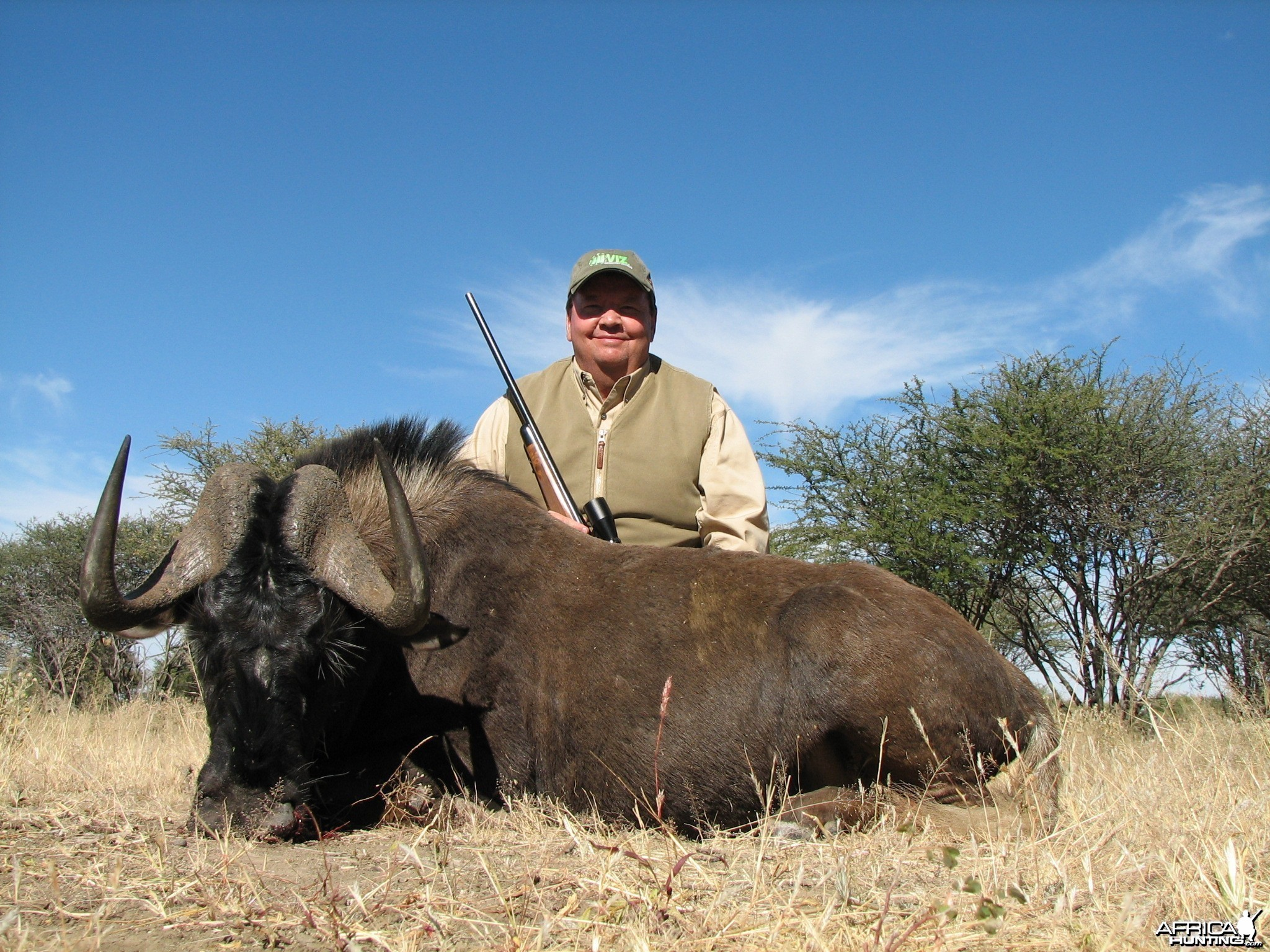 Hunting Black Gnu in Namibia