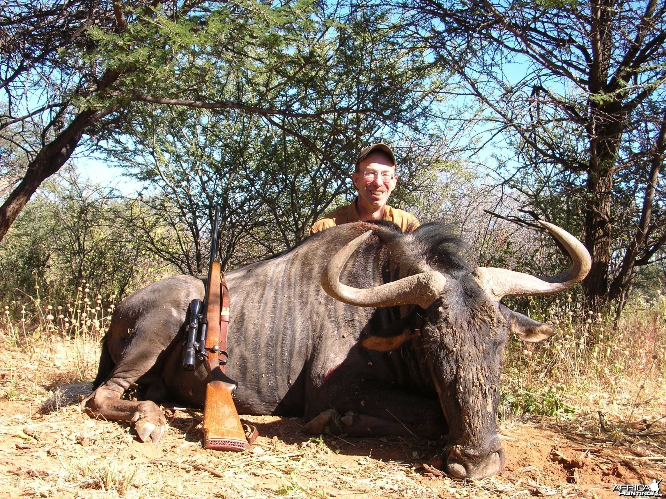 Hunting Blue Gnu in Namibia