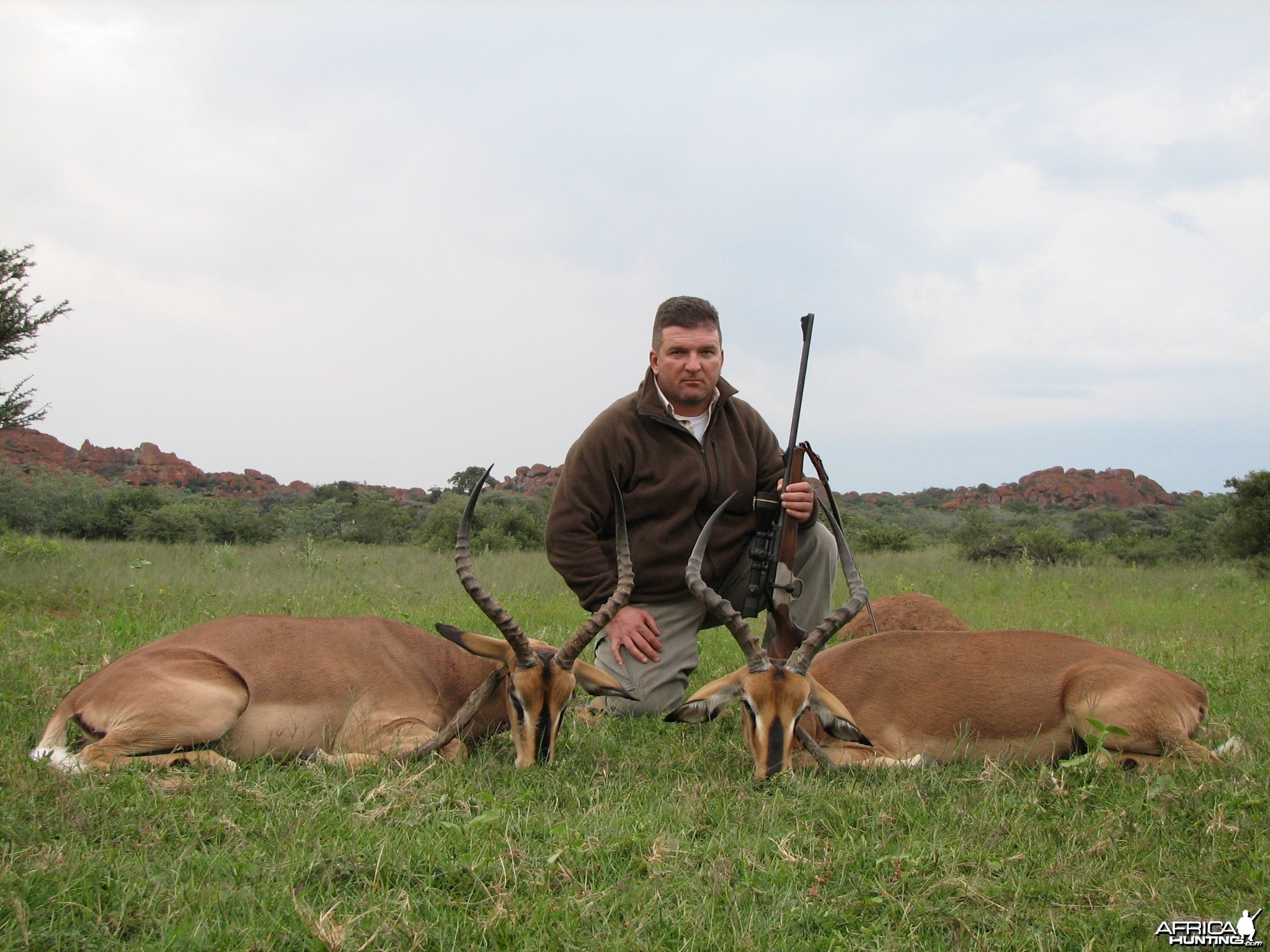 Hunting Black-Faced Impala in Namibia