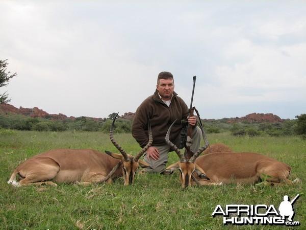 Hunting Black-Faced Impala in Namibia