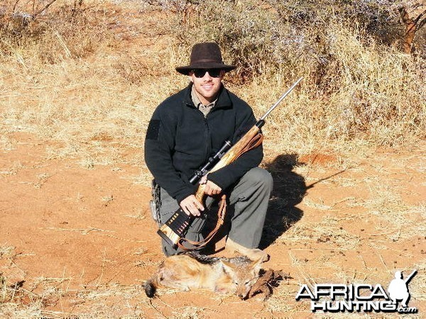 Hunting Jackal in Namibia