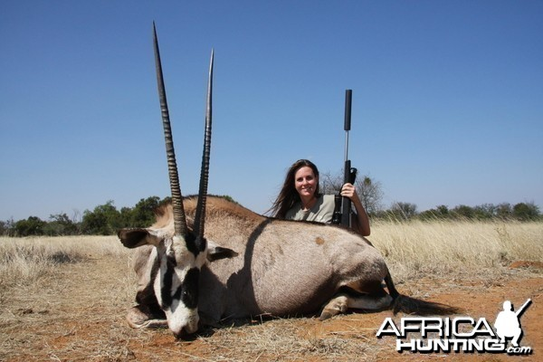 Wife's first big game animal ever... South Africa