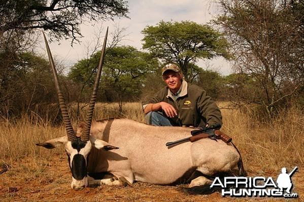 Hardus with my bull gemsbok, South Africa