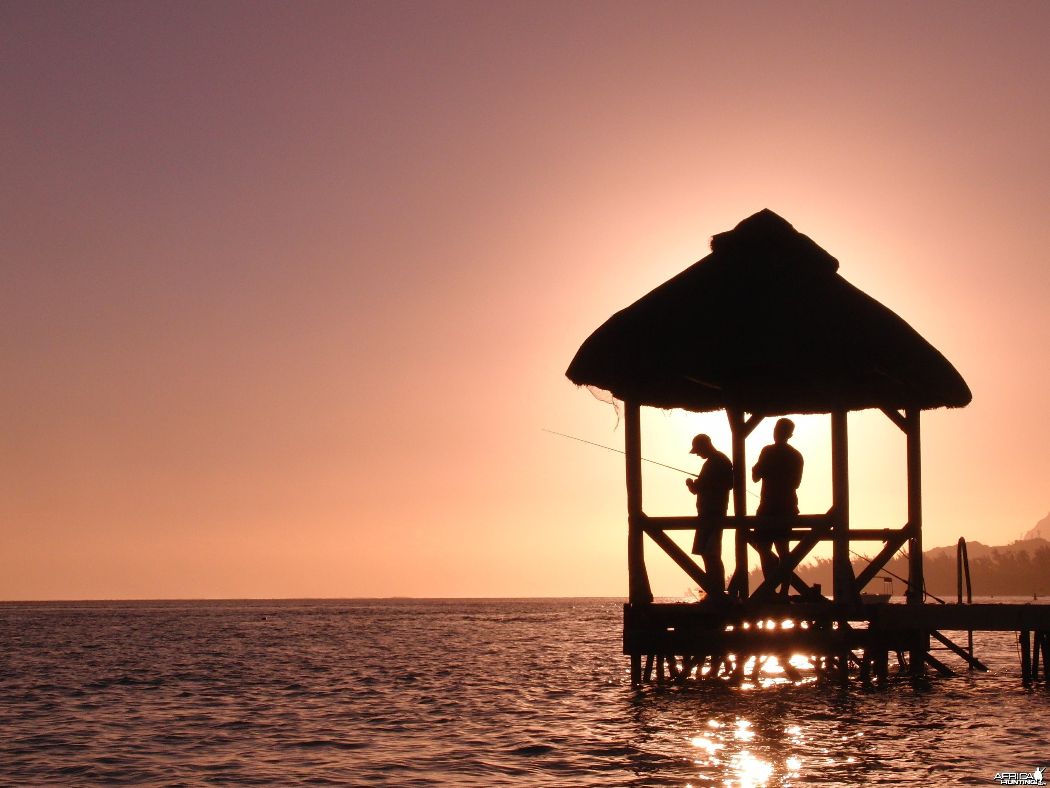 Idian Ocean sunset at Moevenpick Resort in Mauritius