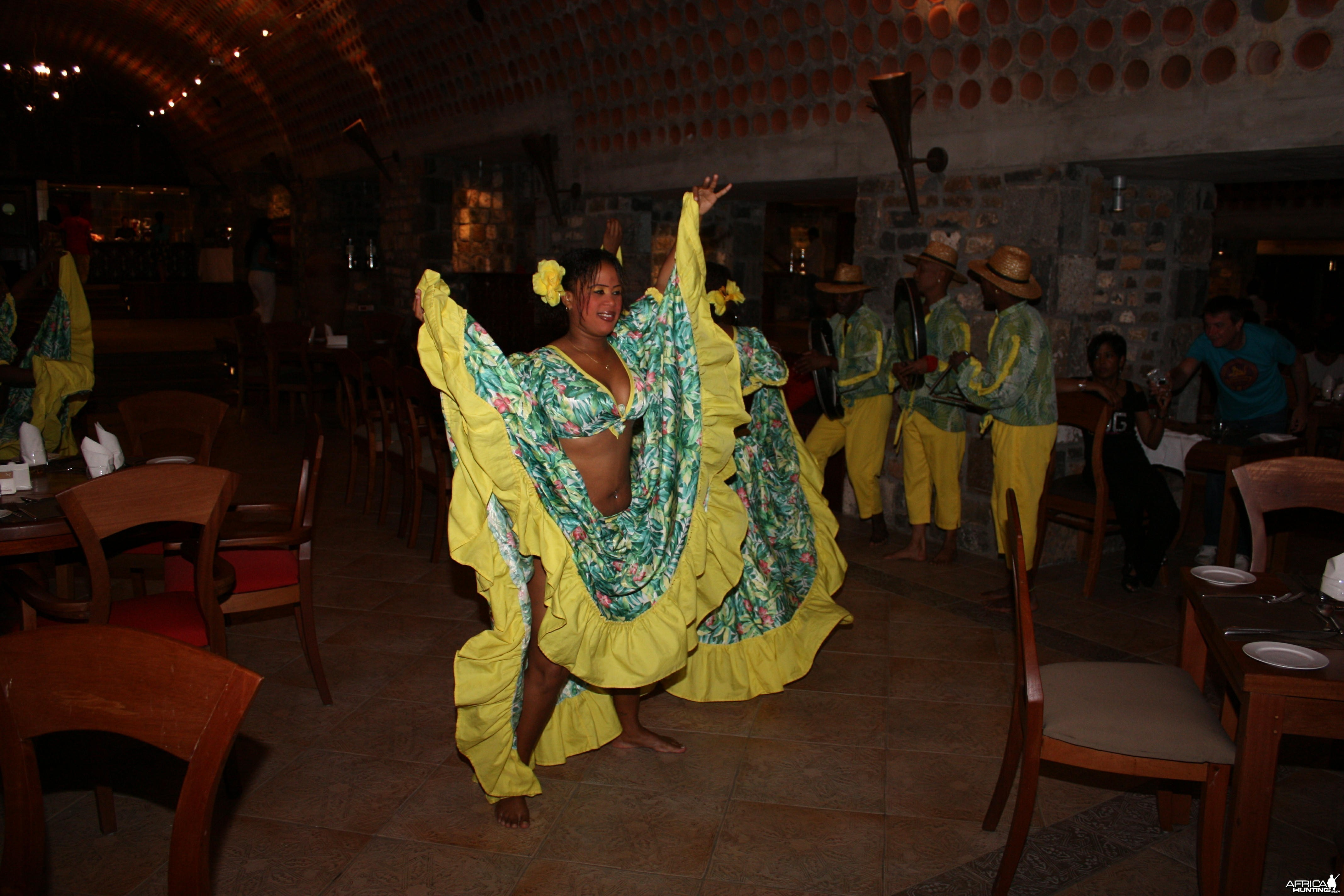Sega Dancer at dinner in Mauritius
