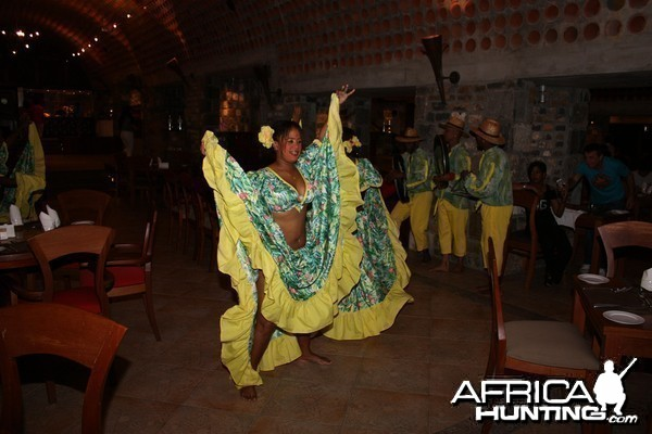 Sega Dancer at dinner in Mauritius