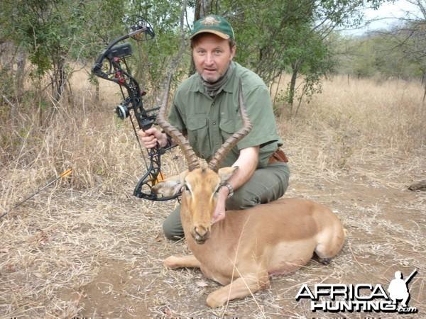 Impala bowhunt in Zimbabwe